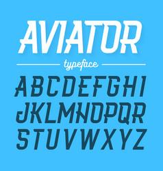 Aviator typeface modern style uppercase font vector