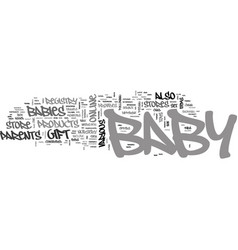 Baby r us text word cloud concept vector