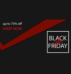 black friday sale banner tag vector image