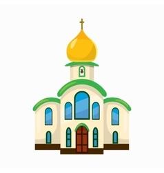 Building church icon cartoon style vector image vector image