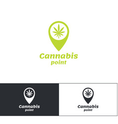 Cannabis point logo vector