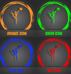 Cheerleader icon fashionable modern style in the vector