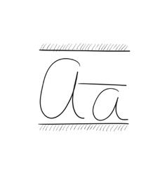 Cursive letter a sketch icon vector image vector image