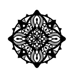 Decorative round mandala style ornaments vector
