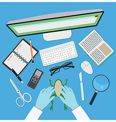 Doctor workplace vector image vector image