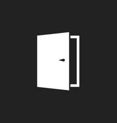 Door icon exit icon open door vector