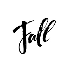 Fall modern calligraph card hand drawn lettering vector