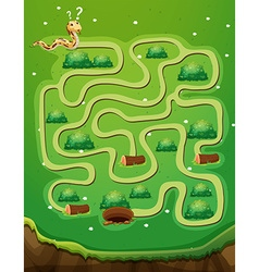 Game template with snake and hole vector image