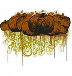 Grunge pumpkin illustration vector