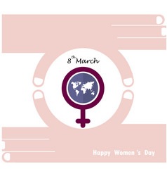 international womens day icon vector image