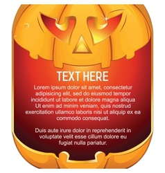 Jack O Lantern Halloween Pumpkin with Candle Light vector image vector image