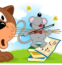 Mouse violinist vector