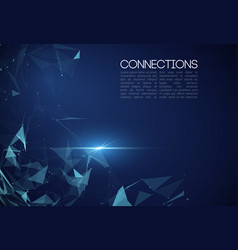 Network connection concept blue vector