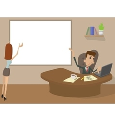 Office Working cartoon concept vector image