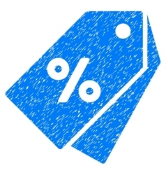Percent discount tags grainy texture icon vector