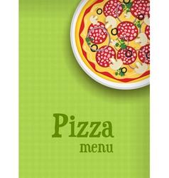 Pizza green menu vector