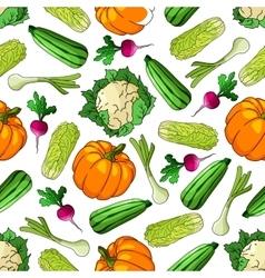 Ripe farm vegetables seamless pattern vector image vector image
