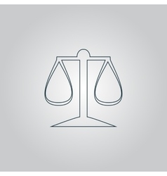 Scales balance icon sign and button vector image vector image