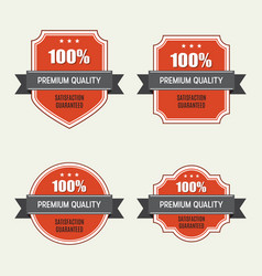 set of premium quality labels vector image