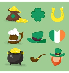 st patrick icons vector image vector image
