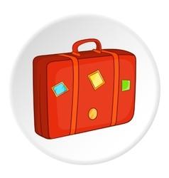 Suitcase icon cartoon style vector image