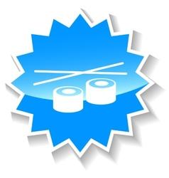 Sushi blue icon vector
