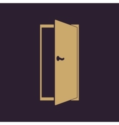 The door icon exit and login symbol flat vector