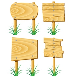 wooden elements vector image