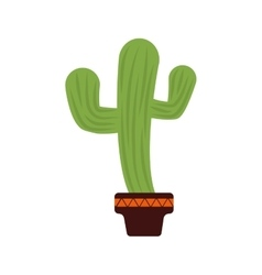 Cactus pot plant green icon graphic vector