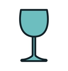 Wine glass beverage vector