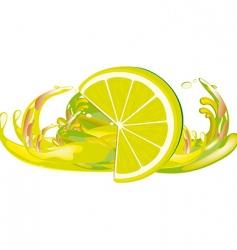 juice splashes and lemon vector image