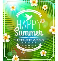 Summer holidays lettering emblem vector image