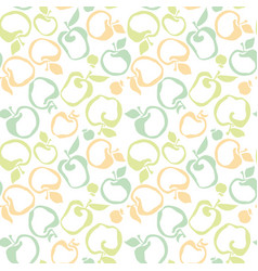 Apple fruit seamless pattern for fabric background vector