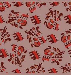 afrikanskj seamless pattern vector image