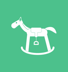 icon on background kids rocking horse vector image