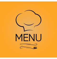 Menu chef design background vector