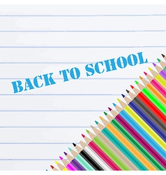 Back to school chalkboard vector