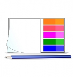 stickers and pencil vector image
