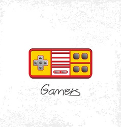 Video game console theme vector