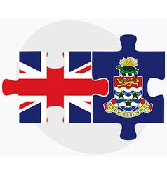 United kingdom and cayman islands vector