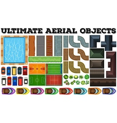 Ultimate aerial objects in set vector