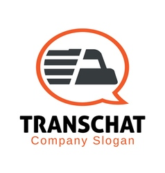 Truck chat design vector