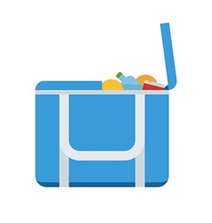 Tourist freezer bag or lunch box icon vector