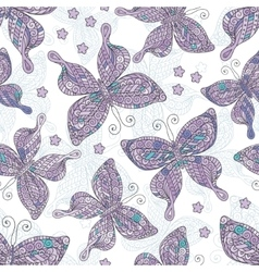 Seamless patterns with butterflies Various and vector image