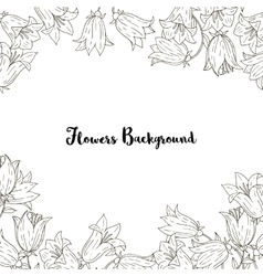 Background with bell flowers and leaves vector