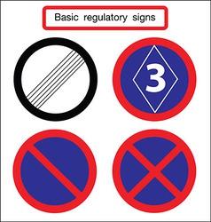 Basic traffic sign blue vector