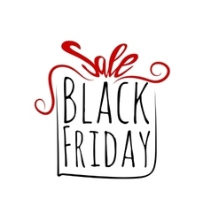 Black friday sales labe gift bowl tag vector
