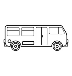 Bus icon outline style vector image