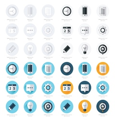 Business flat design icons set 4 styles vector