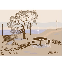 coffee park vector image
